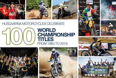Husqvarna celebra i 100 titoli mondiali