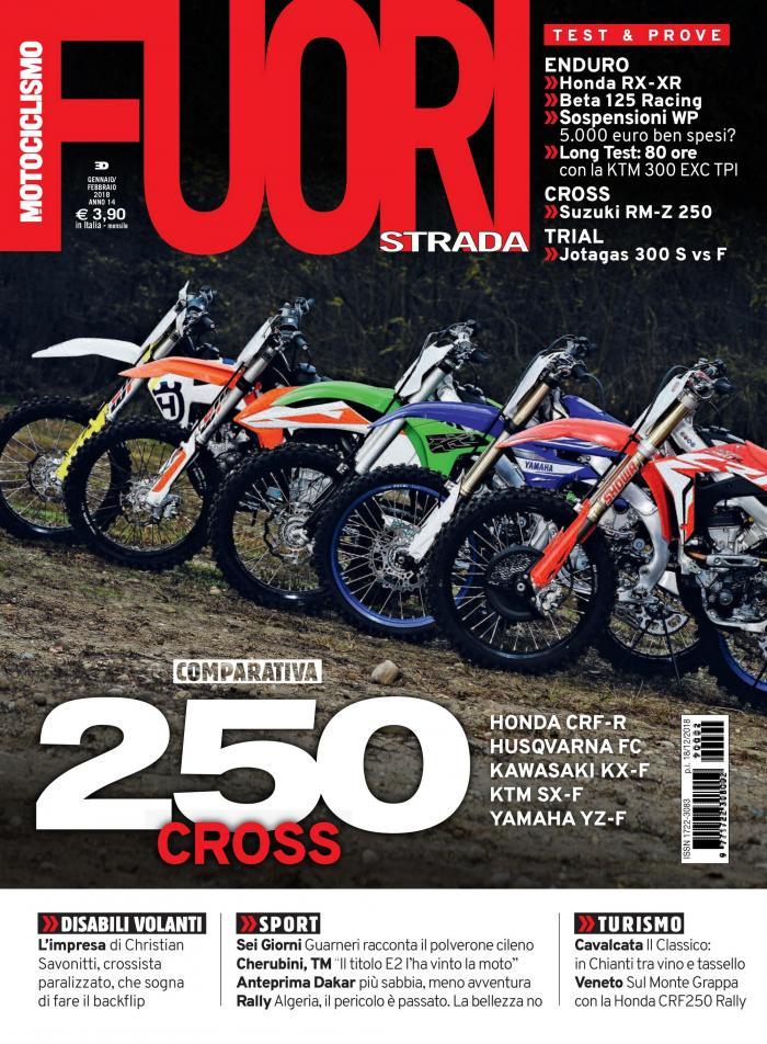 La copertina di Motociclismo FUORIstradadi gennaio-febbraio 2019